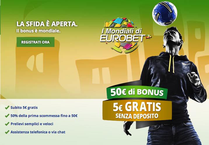 Eurobet 50 euro Bonus