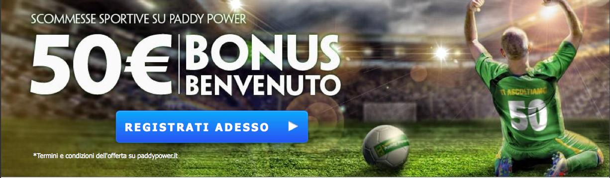 Paddy Power Bonus 50 euro