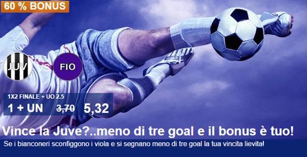 Snai Coupon per Juventus-Fiorentina