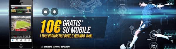 Bonus mobile Netbet per la prima scommessa dallo smartphone