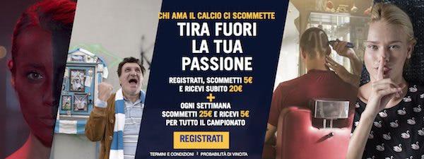 Bonus passione di Eurobet per la Serie A