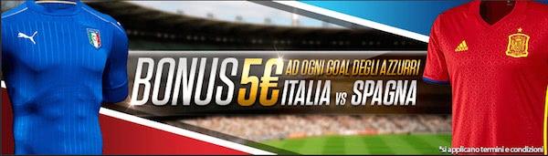 Promozione Netbet per l'amichevole Italia vs. Spagna