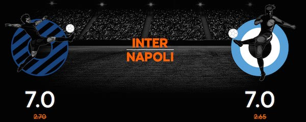 Quote maggiorate 888sport per Inter vs. Napoli