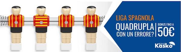 Snai Kasko: rimborso per la Liga spagnola