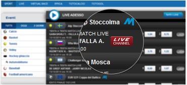 Sisal live streaming: calcio e altri sport in diretta