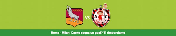 Rimborso Paddy Power per Roma vs. Milan 2016