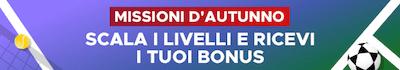 """Punta Milan Genoa con Missioni d""""Autunno Betfair per gareggiare e vincere fino a 300 Euro"""
