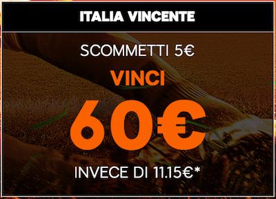 Punta Italia Portogallo 888sport e vinci 60 Euro